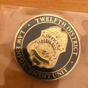 Challenge coin from federal reserve police.